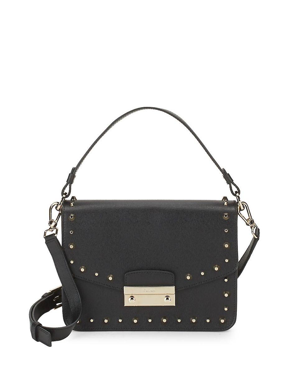 f337fe0c79f76 Furla Julia Studded Leather Crossbody Bag