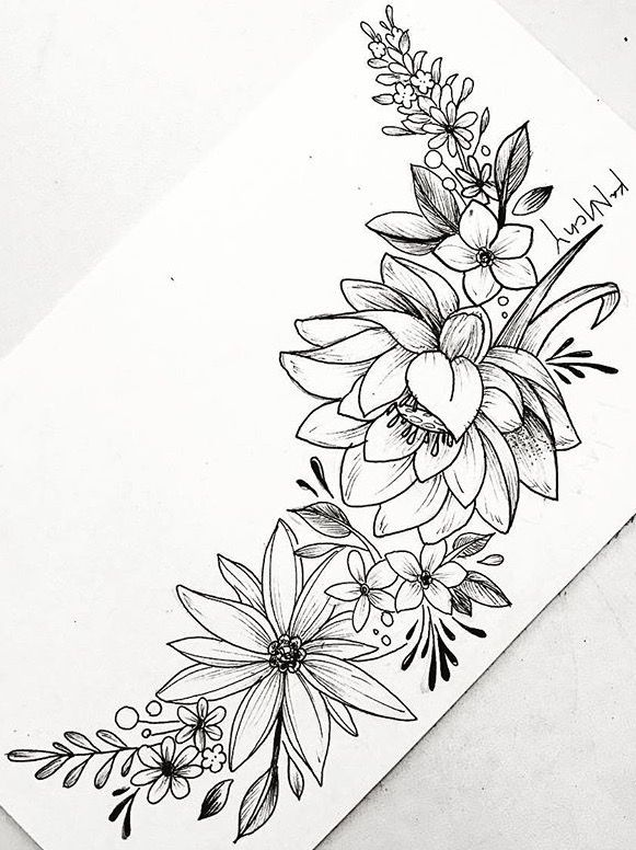 Pin By Mariell On Tattoo Tatuajes De Flores Dibujos Dibujos De