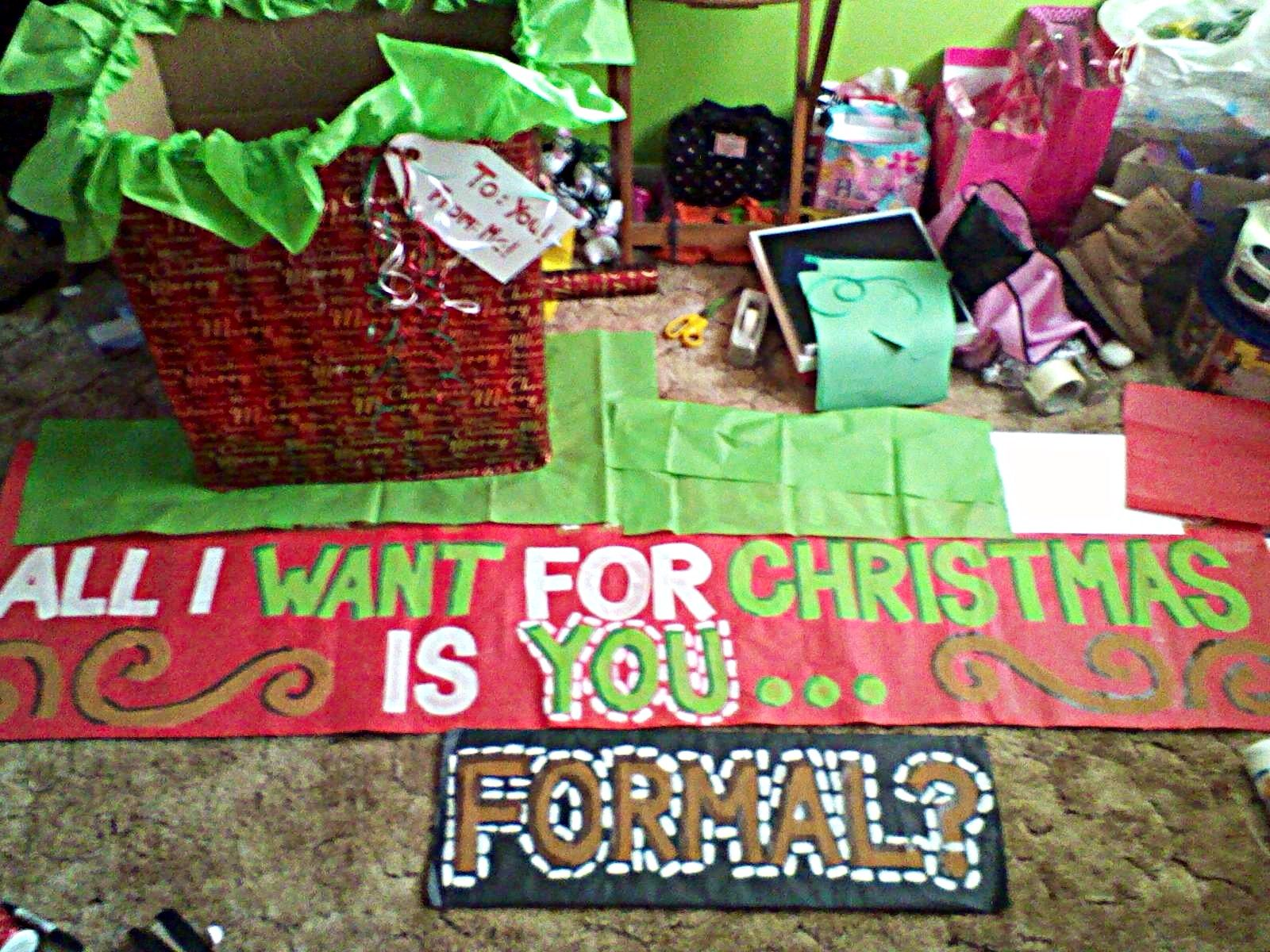Winter Formal Dance Proposal Perfect For Christmas Time I Made This For My Friend To Ask A Girl On Chr Dance Proposal Christmas Proposal Cute Christmas Ideas