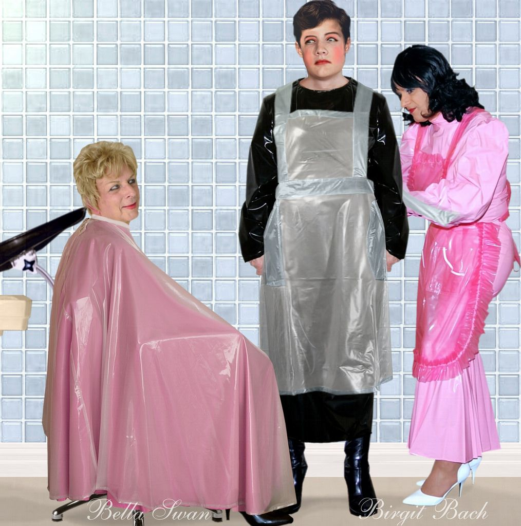 Shampoo cape fetish — photo 15