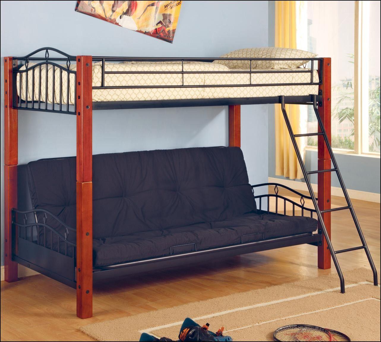 Twin Over Full Futon Bunk Bed with Mattress   Mattress Ideas   Pinterest