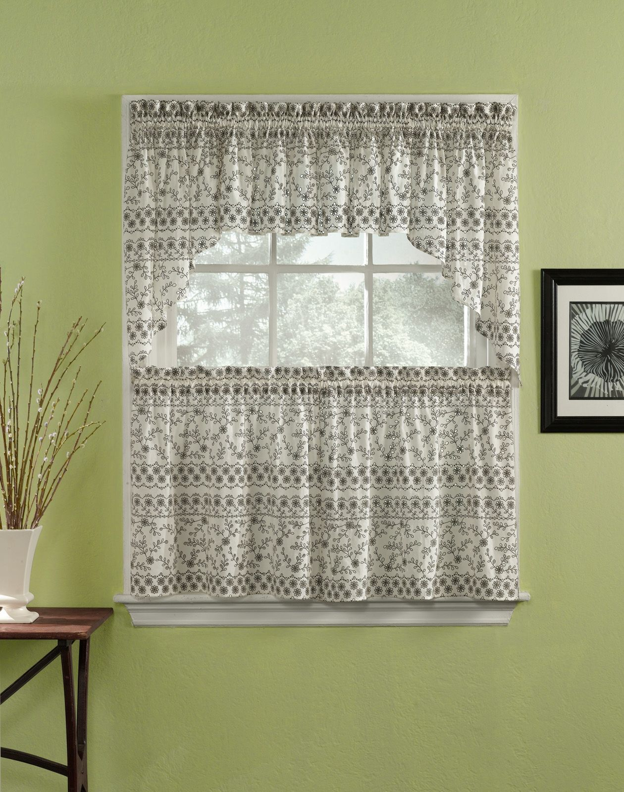 Eyelet lace kitchen curtains latulufofeed pinterest