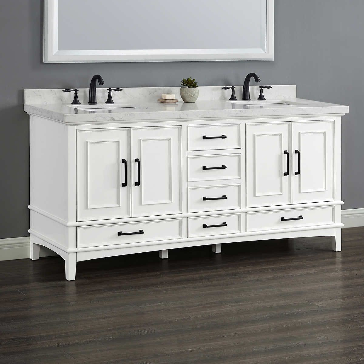 Pin By Kristina Stout On Bathrooms Double Sink Vanity Vanity Sink Vanity