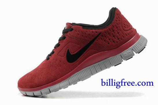 Billig Schuhe Damen Nike Free 4.0 V2 (Farbe:Vamp rot;Sohle