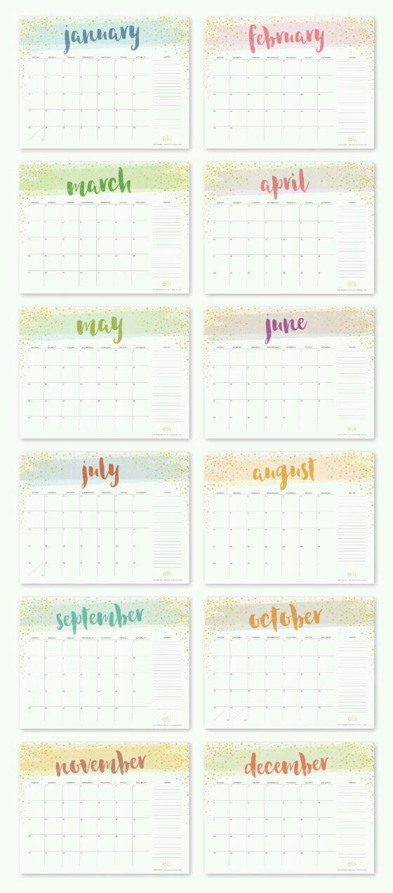 Teacher Calendar Template Editable Monthly Calendar Template