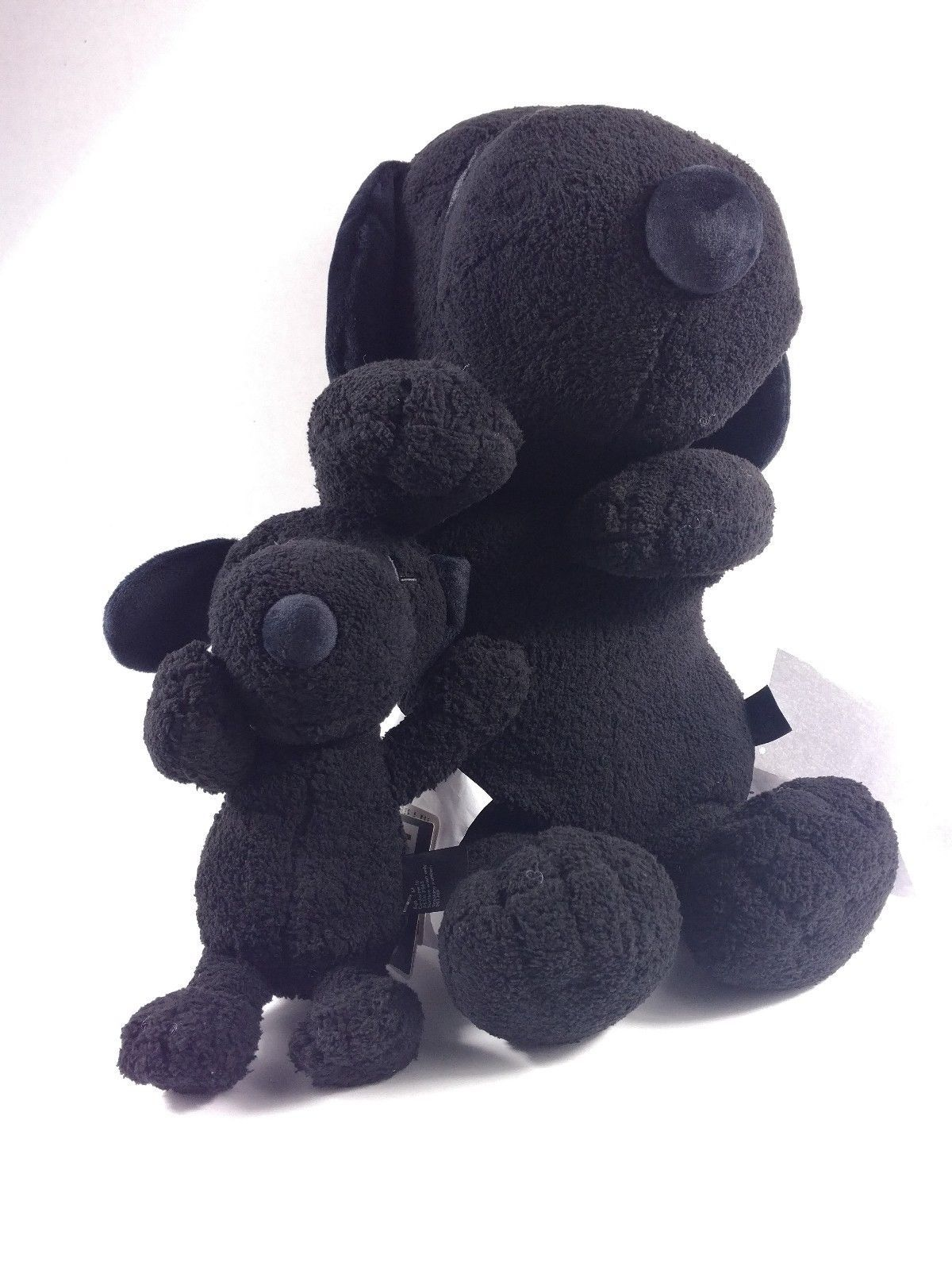 "Kaws x Peanuts x Uniqlo Black Snoopy Plush Toy Size Large 22/"" Brand New Limited"