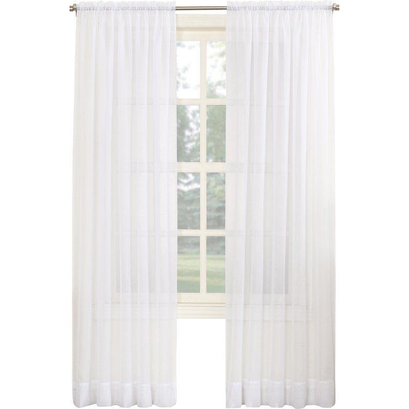 Robert Sheer Voile Rod Pocket Single Curtain Panel Reviews Joss Main Curtains Drapes Curtains Custom Drapes