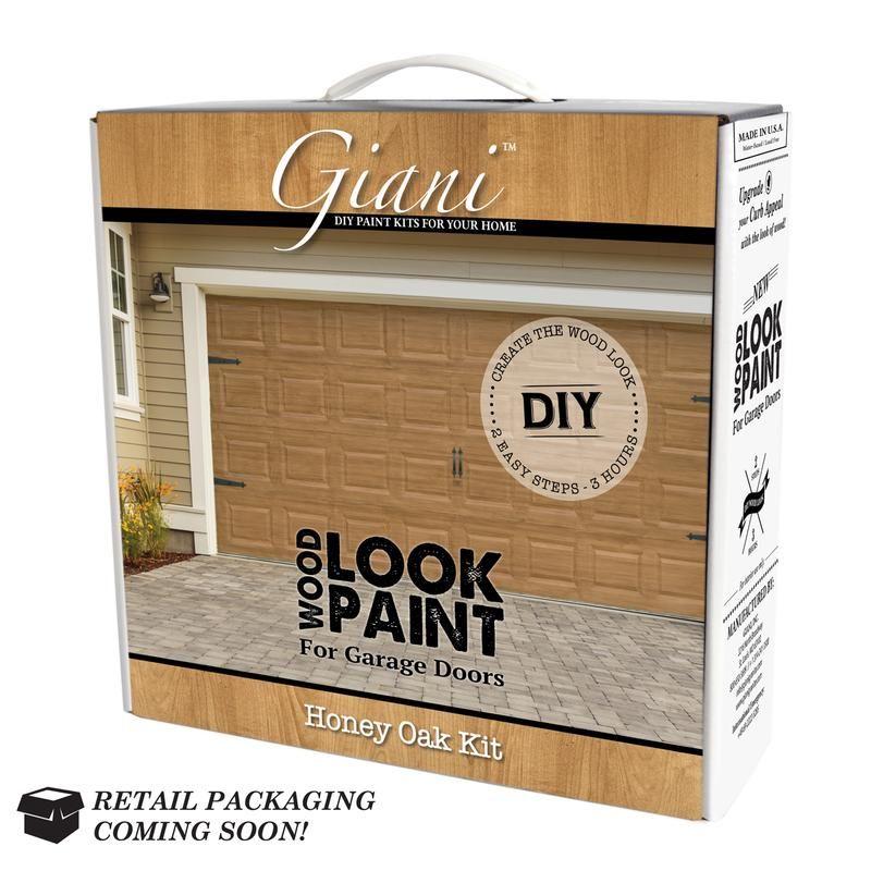 Giani Wood Look Garage Door Paint Kit Black Walnut Walmart Com Garage Door Paint Garage Door Styles Garage Doors