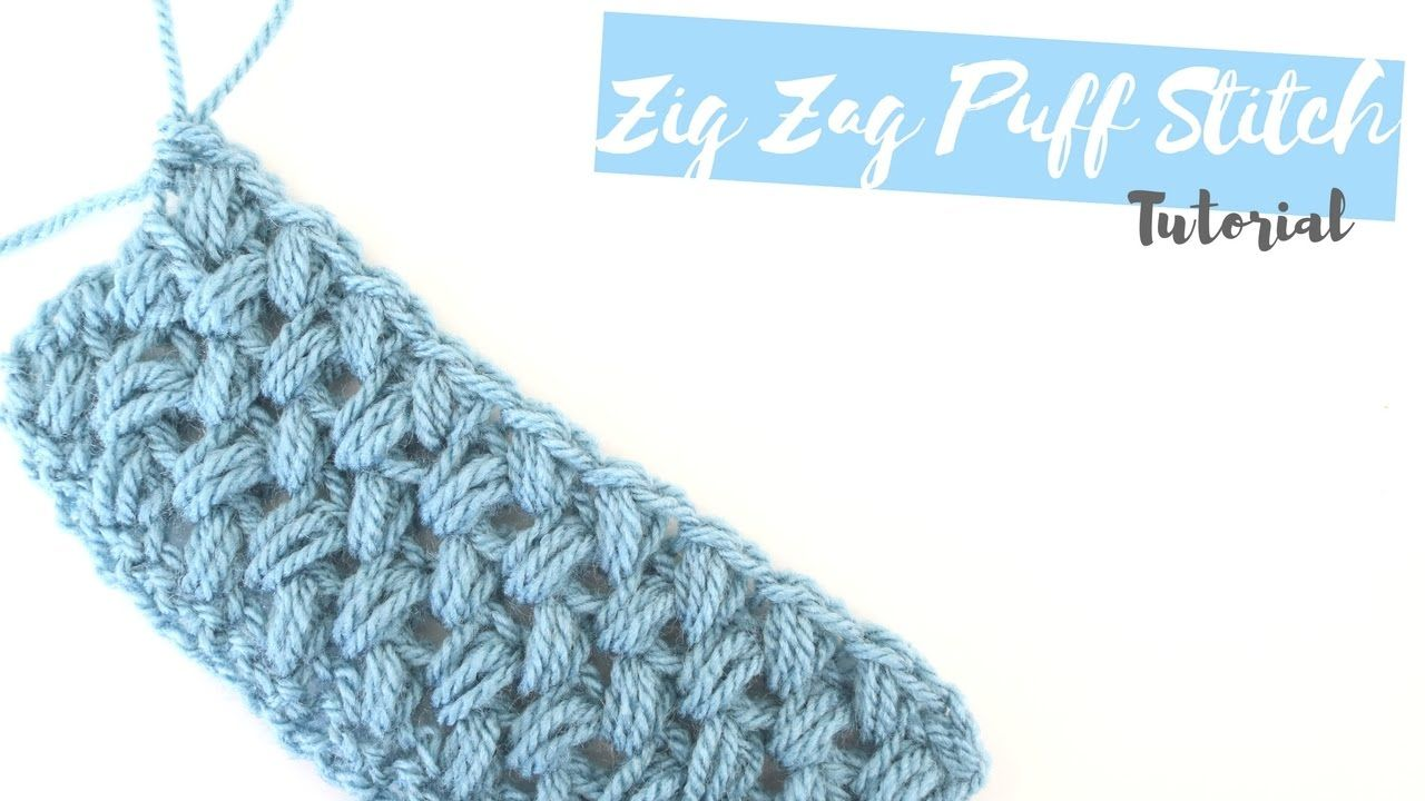 CROCHET: How to crochet the Zig Zag puff stitch | Bella Coco ...