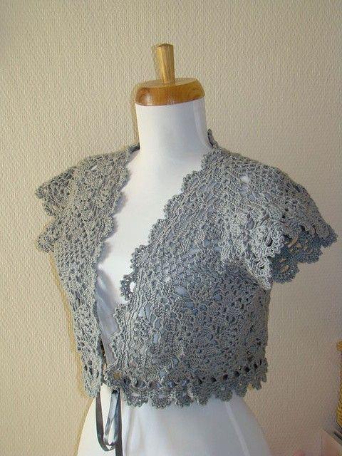 Lace Bolero Free Pattern Repinned Crochet Cross Stitch Project