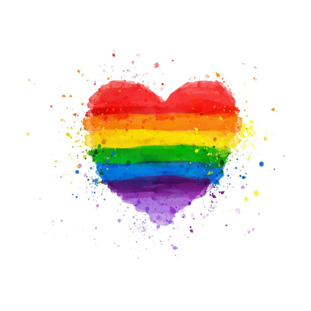 Watercolor Rainbow Heart In 2020 With Images Rainbow Drawing