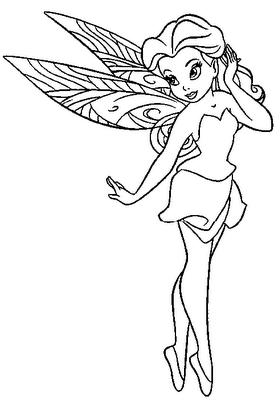 6 printable fairy rosetta coloring pages - Printable Fairy Coloring Pages