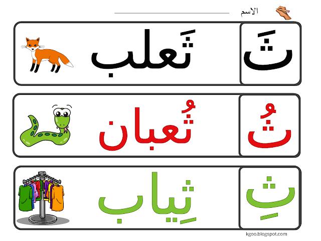 الحروف الهجائية مدونة الحضانة Arabic Alphabet For Kids Arabic Kids Alphabet For Kids