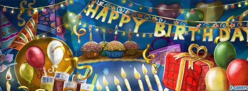Cartoon Birthday Party Facebook Cover