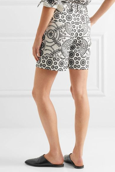 Cheap Choice Cleary Broderie Anglaise Cotton Shorts - Off-white Topshop Sale Release Dates Buy Cheap 100% Original Outlet Nicekicks 9wLlNXJKFZ