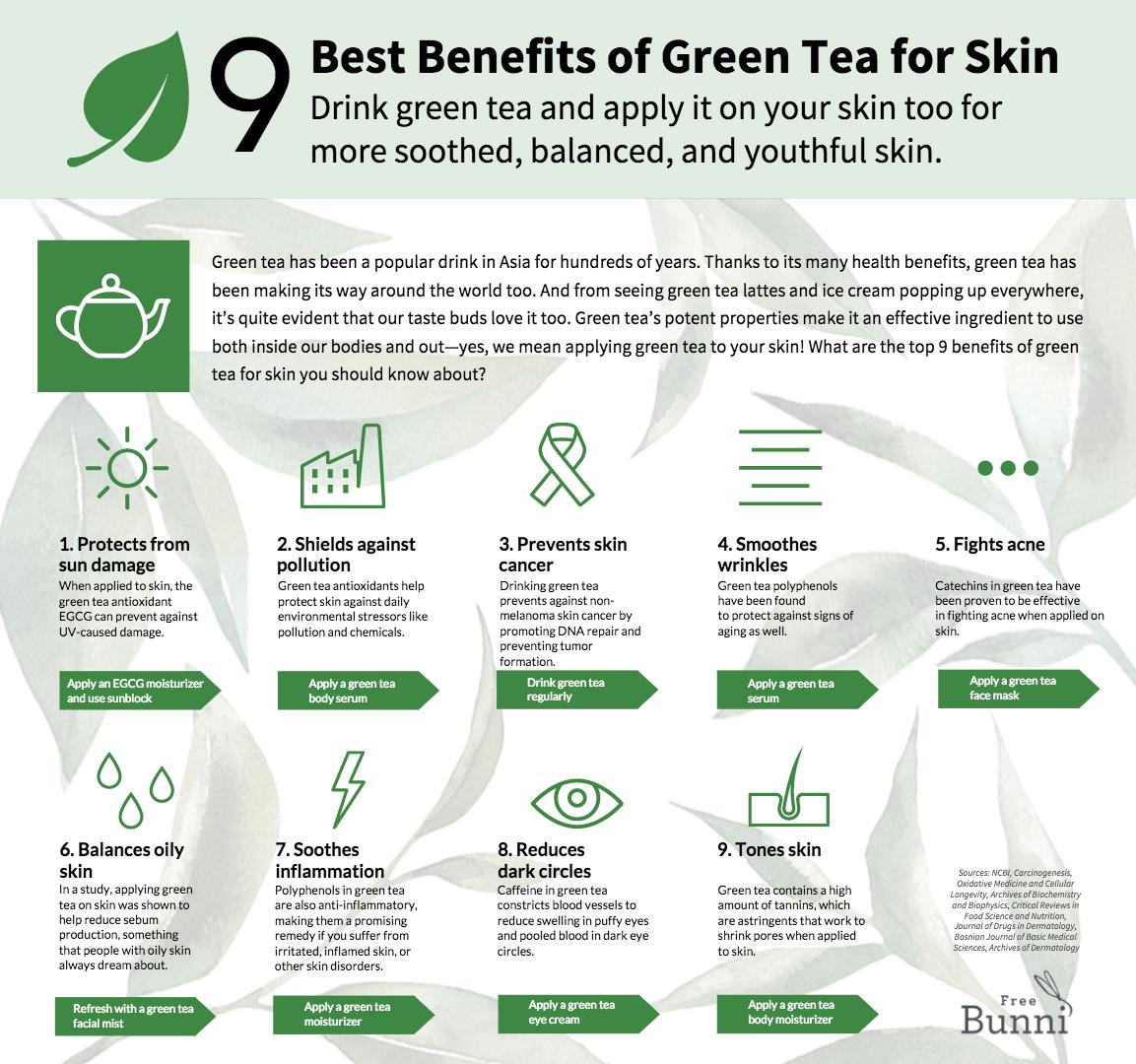 9 best benefits of green tea for skin | green tea benefits