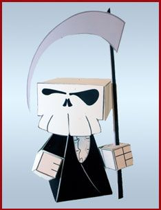 free template to make a papercraft grim reaper via nice bunny