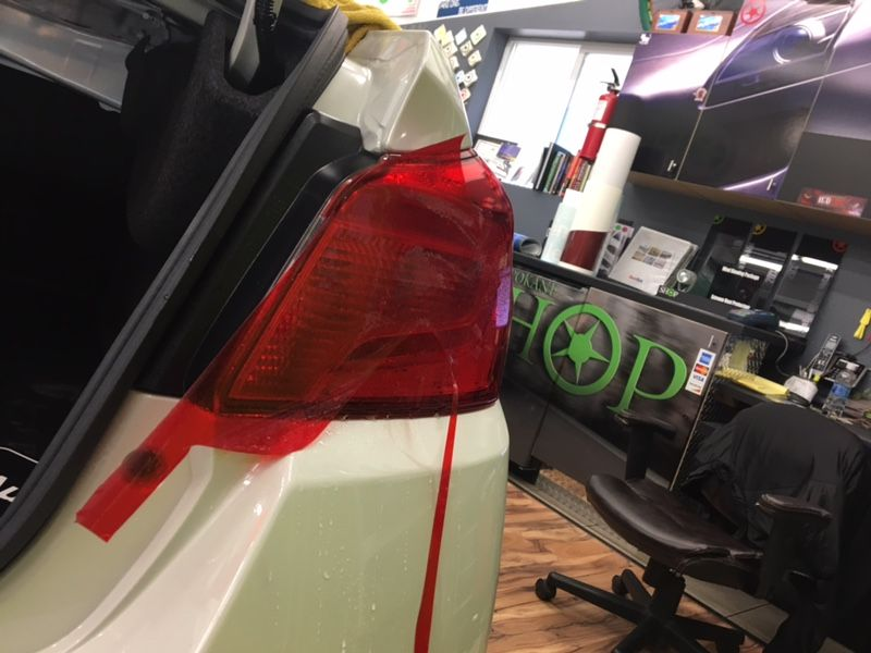This 2018 Subaru WRX went for more of a clean look, and had red colored Clear Bra installed to the white area of his tail lights. While we were at it, we went ahead and wrapped up the emblem as well :) #ClearBra #Smoked #Lights