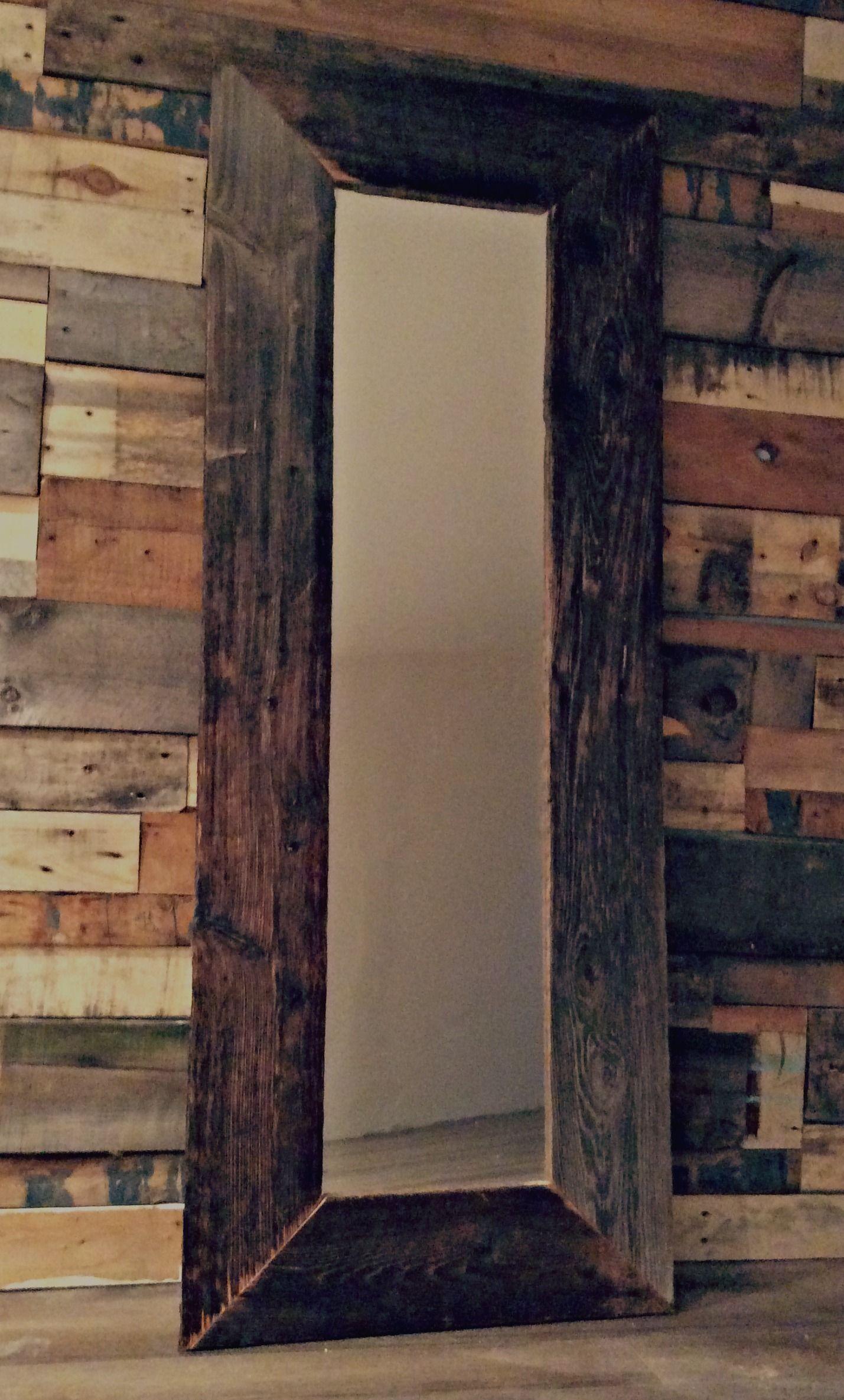 miroir en bois de grange mam 39 artiste blogue diy new maison pinterest miroir bois. Black Bedroom Furniture Sets. Home Design Ideas