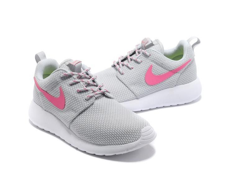nike roshe junior grey and white chevron