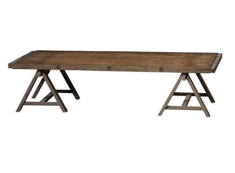 Table Basse Avec Treteaux Table Table Cloth Home Decor