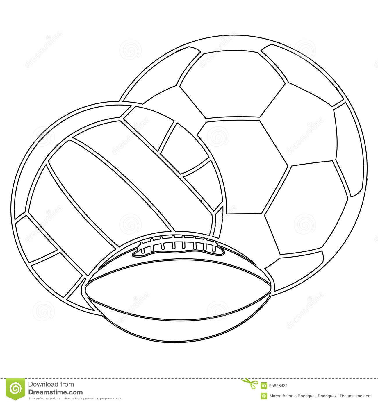 30++ Sports ball black and white clipart information