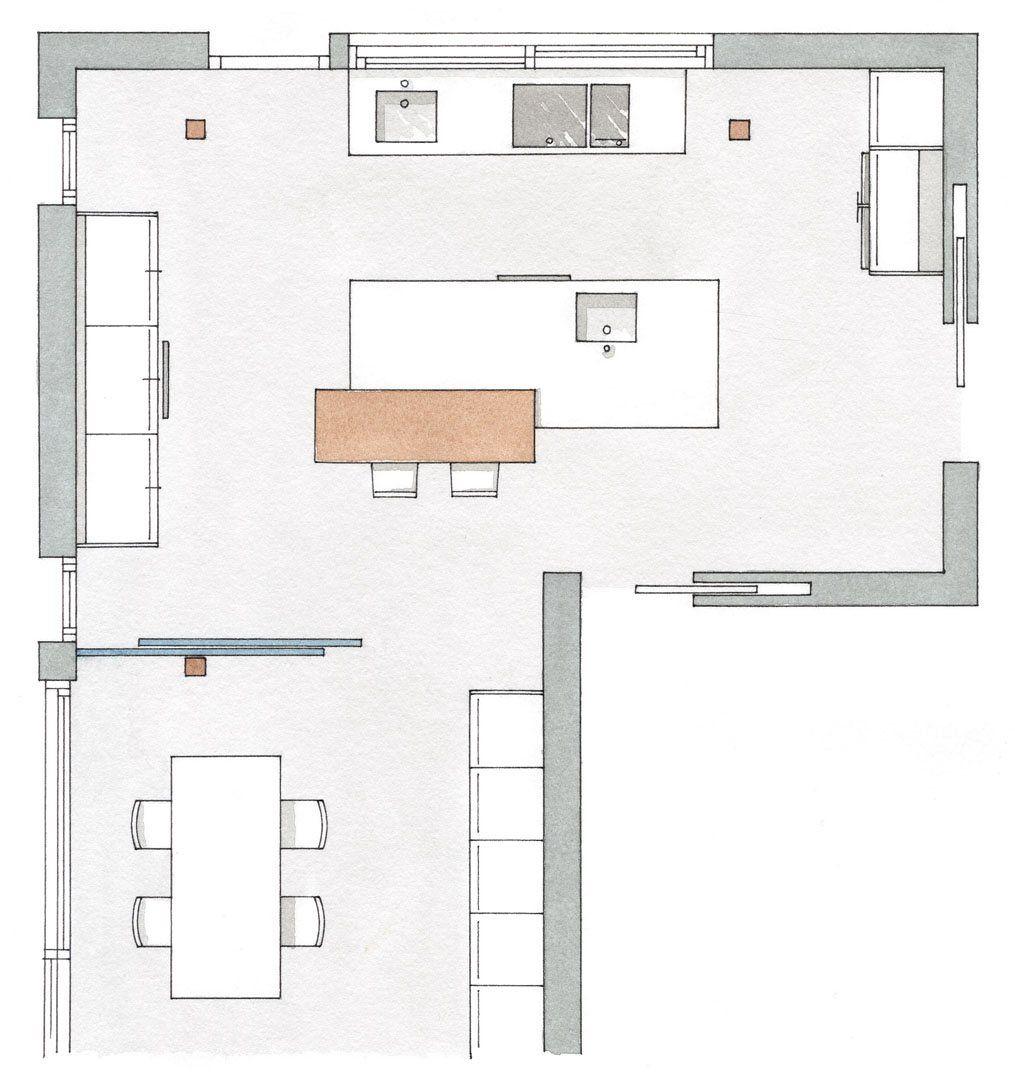 Pin de maria granados en cocinas pinterest planos for Plano de pieza cocina y bano