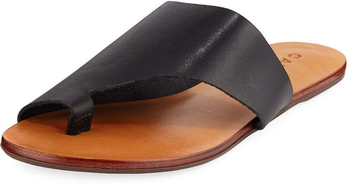 4ebef0bb3dfad Carrano Martie Flat Leather Sandal