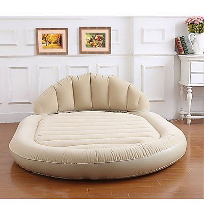 Daybed Lounger Inflatable Pull Out Sofa Couch Double Air Bed