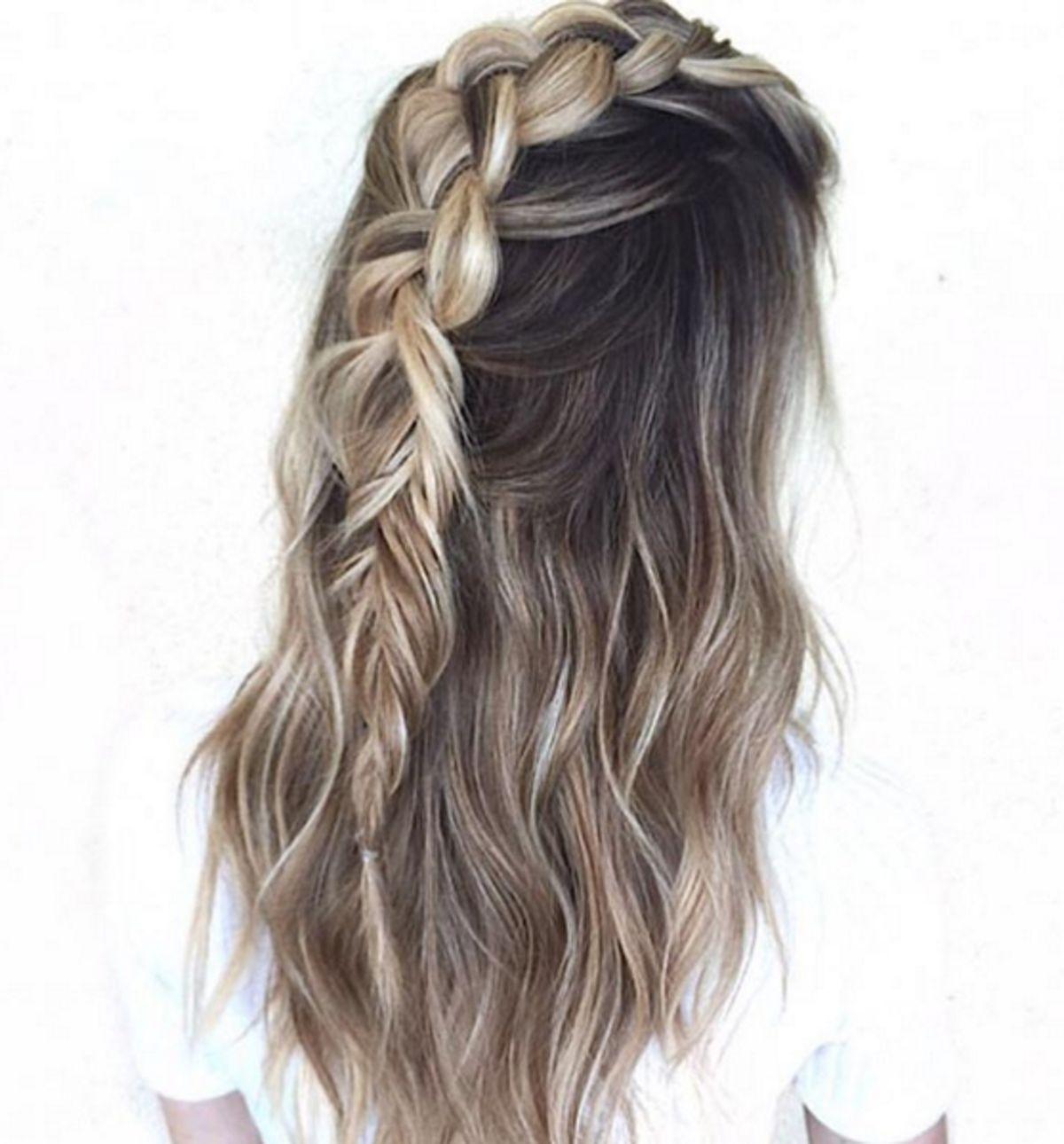 pinterest // princesslucy24   hairstyles   pinterest   half braid