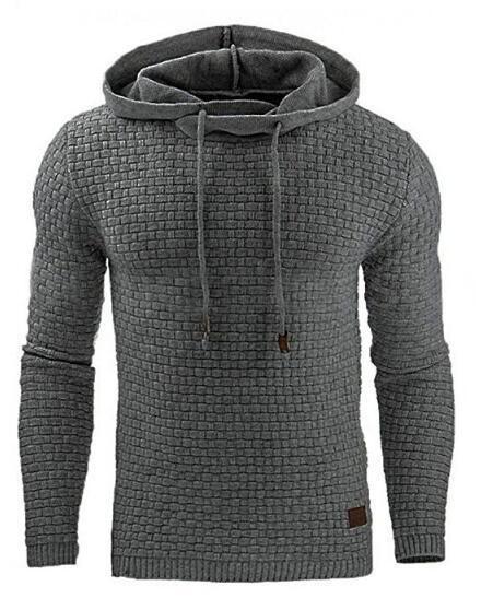Men 2018 Brand Male Hip Hop Long Sleeve Solid Color Hooded