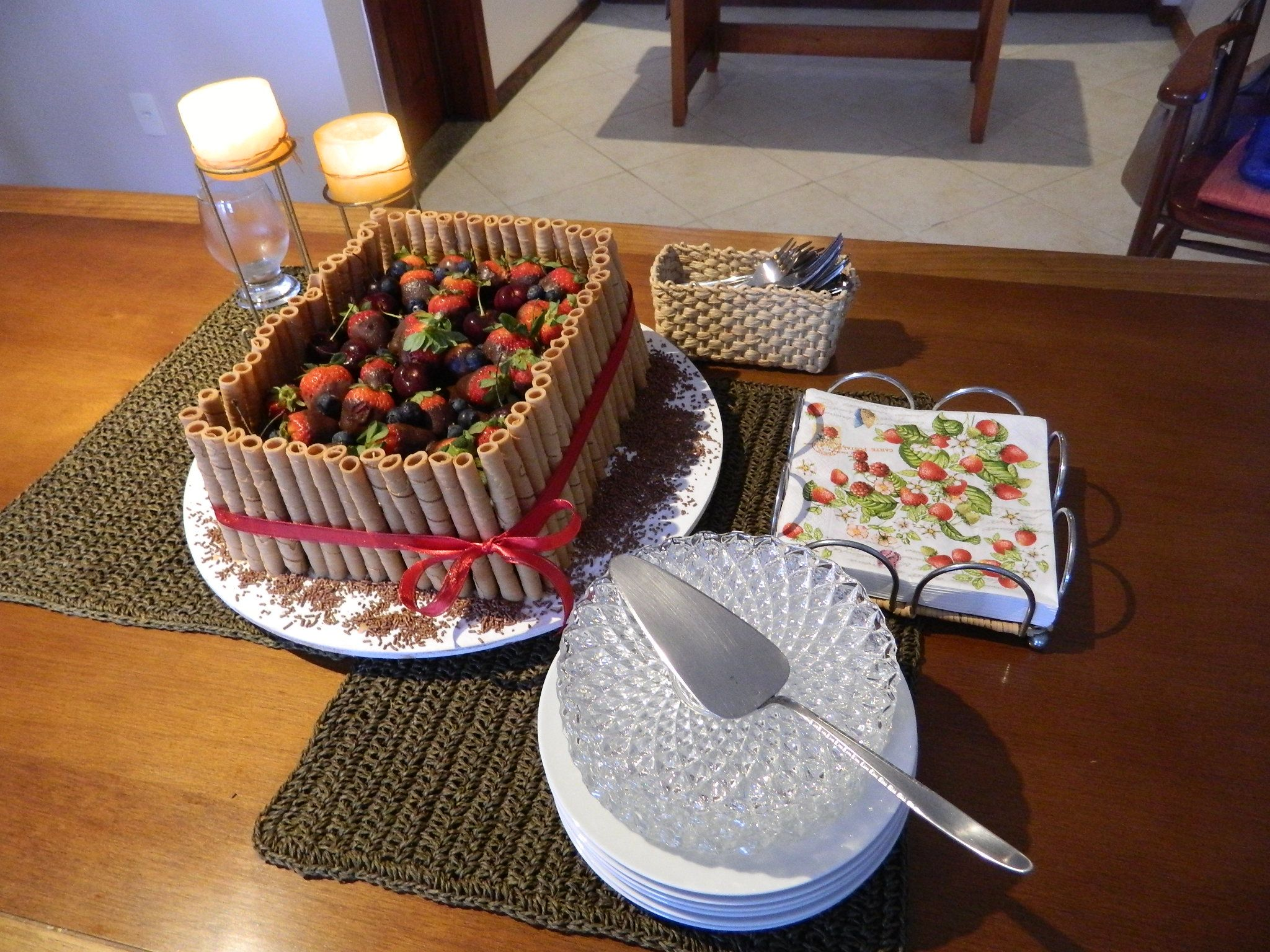 cake of  red fruits