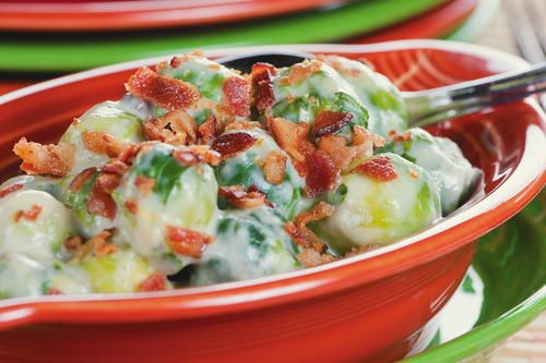 Scalloped Brussels Sprouts Recipe Recipe With Cream Of Mushroom Soup Baked Onions Recipe