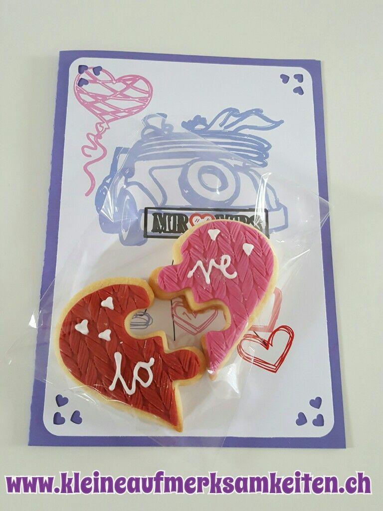 Karte mit Cookie - Hochzeit