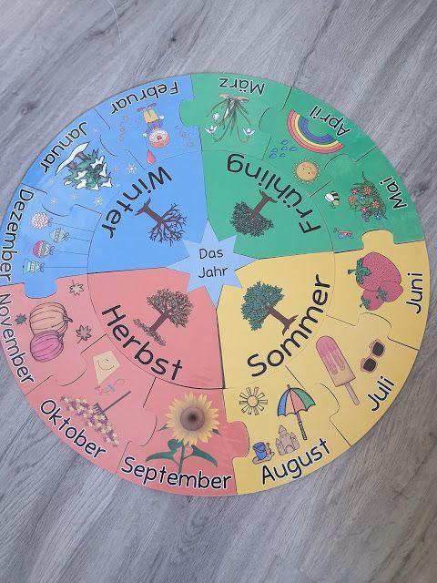 jahreskreispuzzle  grundschule geburtstagskalender