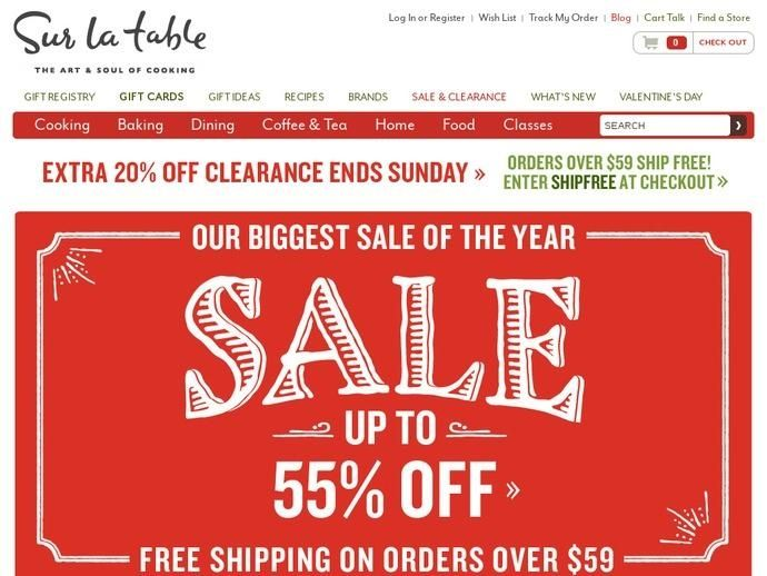 Sur La Table Coupon Discounts Promo Codes Simply By