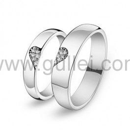 Personalized Half Heart Shaped Promise Rings For Him And Her Couples Gifts