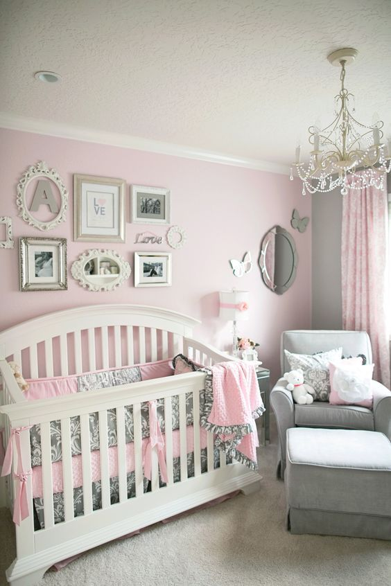 Deco Chambre Bebe Fille Rose Et Taupe  Deco Chambre Bebe Fille Rose