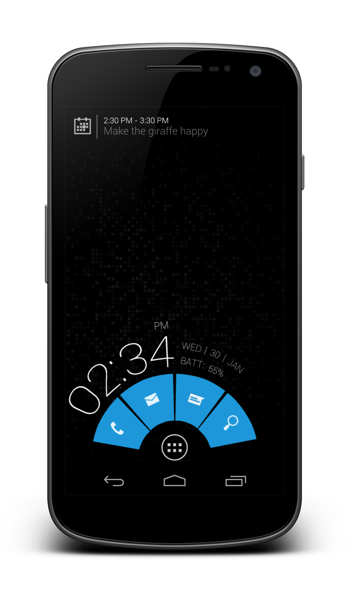 UCCW of a Blueberry Pie Android Homescreen by Fulgore84