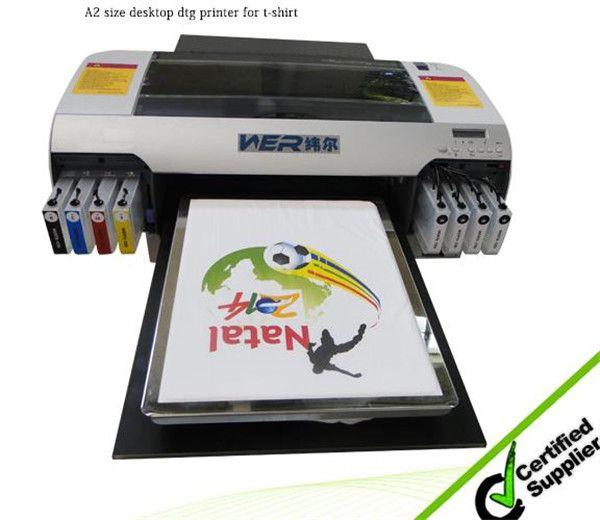 Best Good Performance Desktop A2 Size WER D4880T Digital T Shirt Printing Machine For Sale