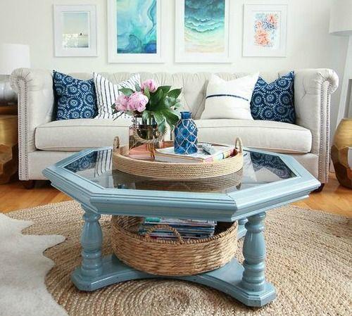 Woven Basket Trays For Coastal Style Decorating Decor Coastal Decorating Living Room Coastal Style Decorating