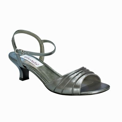ed9bf2920fe Brielle Pewter Low Heel Evening Shoes