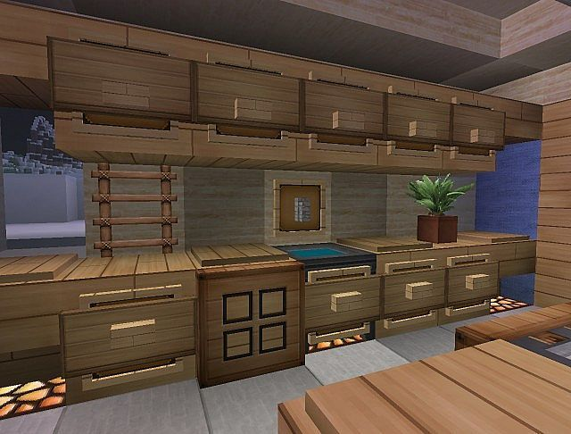 Counter Designs Minecraft Room Minecraft Interior Design Minecraft Kitchen Ideas
