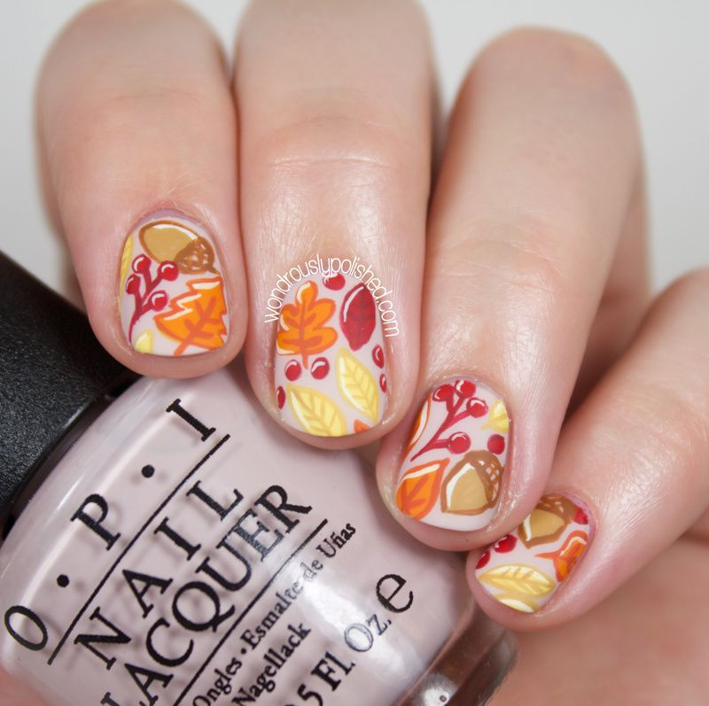 The Beauty Buffs - Fall: Autumn Leaves Nail Art (Wondrously Polished ...