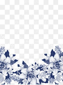 Blue Flowers Flowers Wedding Invitations Wedding Invitation Blue