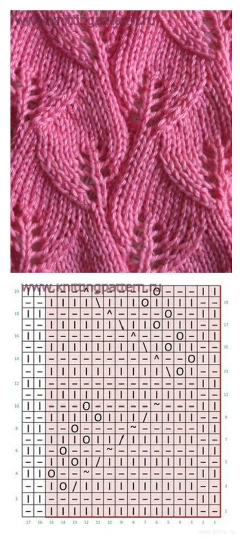 вязание узоры простые схемы вязание спицами Knit Patterns