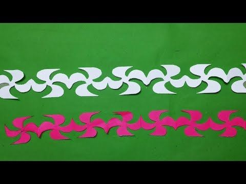 how to make easy paper cutting duck make paper cutting designs patterns step by step youtube