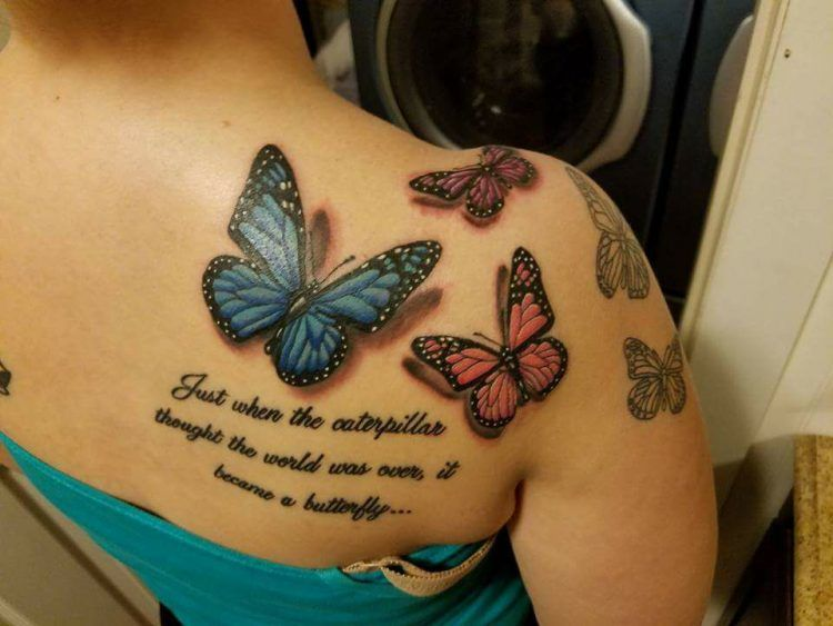 28 Beautiful Tattoos Inspired By Invisible Illness Butterfly