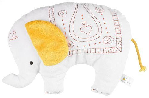 Deze circusolifant met een oosters tintje wil graag je baby's grootste knuffelvriend worden.
