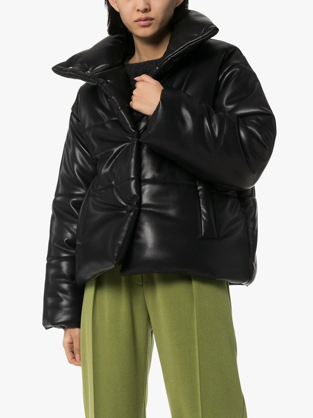 Nanushka Hide Vegan Leather Puffer Jacket Farfetch In 2020 Vegan Leather Puffer Jackets Jackets [ 1334 x 1000 Pixel ]